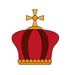 crown pope catholic emblem icon vector image