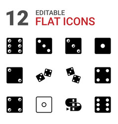 dice icons vector image
