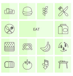 Eat icons vector