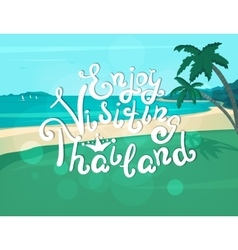 Enjoy visiting Thailand banner vector image