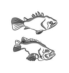 Fish logo template creative symbol fishing vector