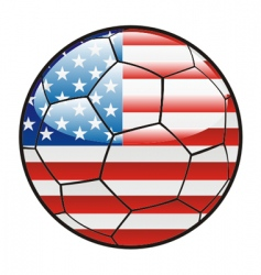 Flag of America on soccer ball vector
