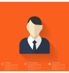 Flat male avatar User profile icon Business vector image