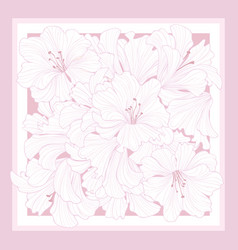 Floral pattern decor for silk tiussiue flower vector