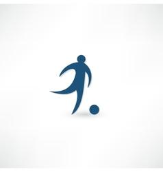 Footballer icon vector