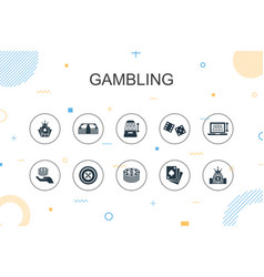 gambling trendy infographic template thin line vector image