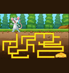game mouse maze find way to the cheese vector image