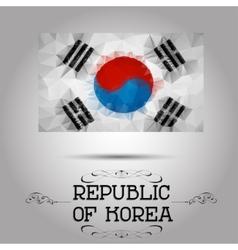 geometric polygonal Republic of Korea flag vector image