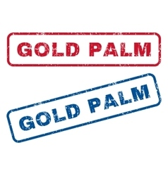 Gold Palm Rubber Stamps vector