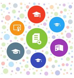 Graduate icons vector