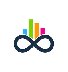 graph infinity logo icon design vector image
