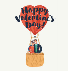 greeting card happy valentines day vector image