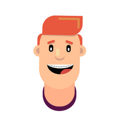 Guy with braces on his teeth vector