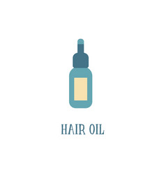 hair oil bottle with pipette icon flat cartoon vector image