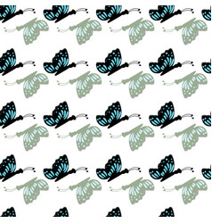 hand drawn cute butterflies on a white background vector image
