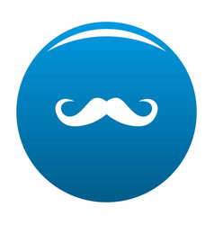 Handlebar mustache icon blue vector