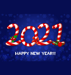 happy new year greeting card as candies vector image