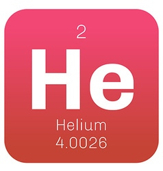 Helium chemical element vector