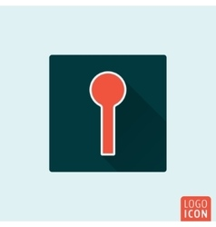Keyhole icon isolated vector