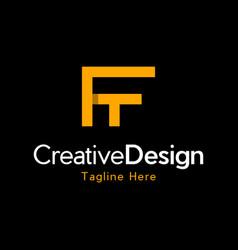 Letter ft creative business logo design vector