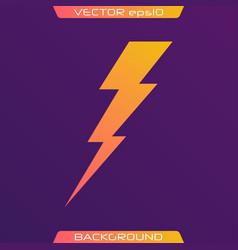 lightning bolt set vector image