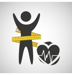 lose weight concept monitoring pulse vector image