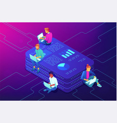 marketing strategy isometric concept vector image