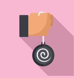 Mental hypnosis pendulum icon flat style vector