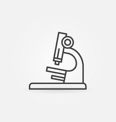 Microscope outline icon chemistry concept vector