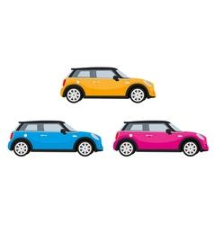 Mini Car Orange vector image