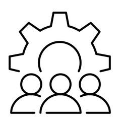 monochrome organizational matters icon vector image