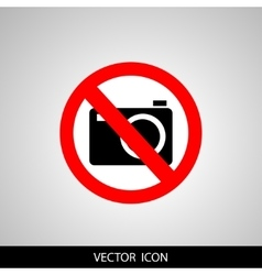 no camera no photo sign red prohibition - vector image