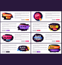 only today black friday sale vector image