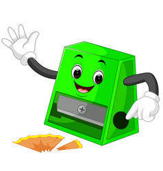 pencil sharpener cartoon vector image
