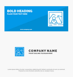 Picture image landmark photo solid icon website vector