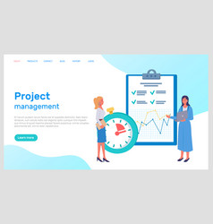 project management office team planning concept vector image
