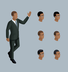 Qualitative isometry businessman african american vector