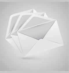 Realistic opened envelopes vector