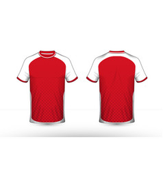 Red and white layout e-sport t-shirt design vector