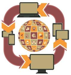Responsive Web Design Template Purple vector image