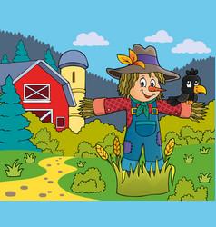 scarecrow theme image 5 vector image