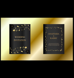 set of wedding invitation card vector image