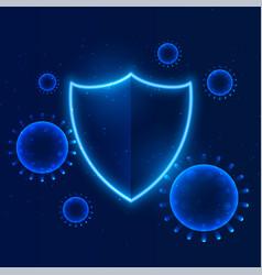 Shield protecting coronavirus to enter building vector