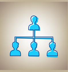 Social media marketing sign sky blue icon vector