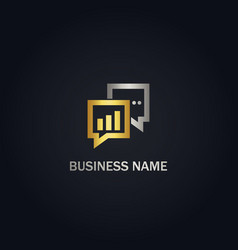 talk consulting business gold logo vector image