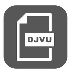 The DJVU icon File format symbol Flat vector