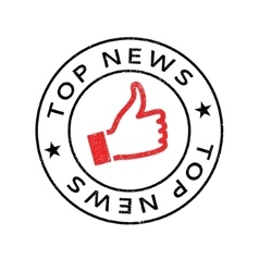 Top News rubber stamp vector image