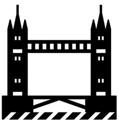 tower bridge solid vector image