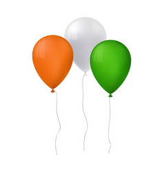 tree balloons for st patric vector image