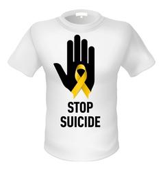 Tshirt stop suicide vector